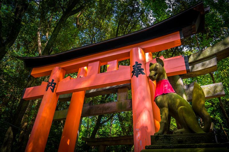 Fushimi Inari Shrine  in Kyoto, Japan.