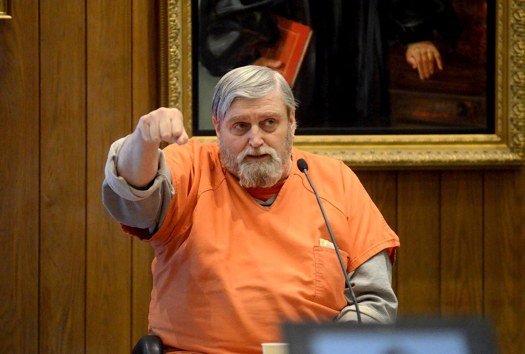 . David Casey testifies in the Adam Hall murder trial in Springfield on Wednesday, January, 22, 2014. Gillian Jones/Berkshire Eagle Staff