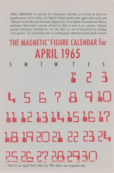 April, 1965, Herity Press