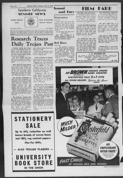 Summer News, Vol. 7, No. 6, July 15, 1952
