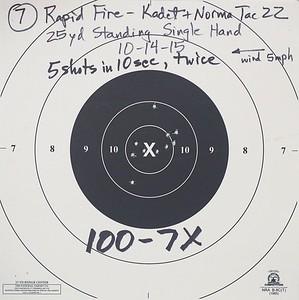 Pistol Range 10-14-15 Kadet 100