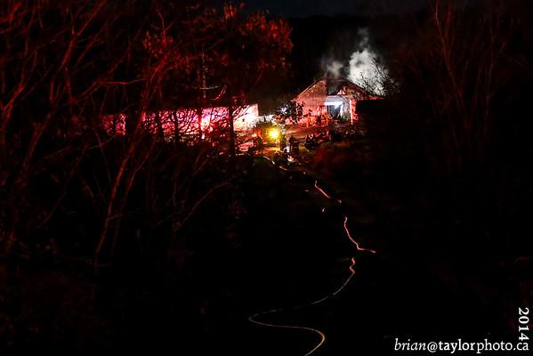 Barn Fire, Church St. Port Williams