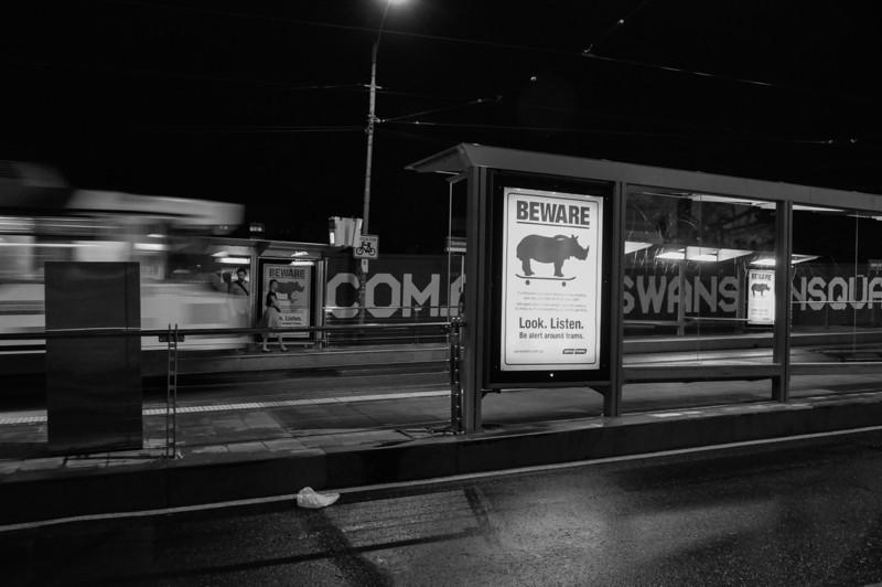 Swanston Street, Melbourne, 2012