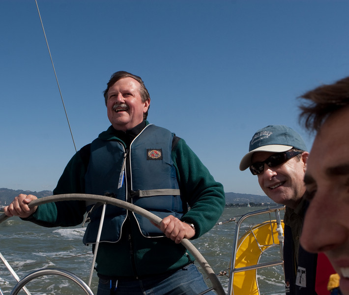 George really liked a turn at the helm.