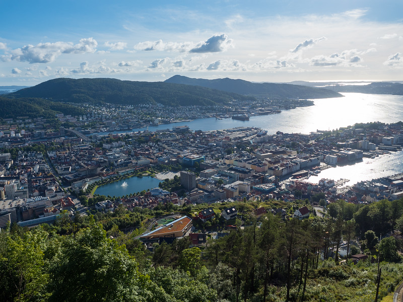 View of Bergen from Mt. Fløyen