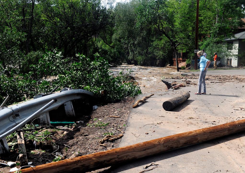 . Flood damage in Lyons Friday, Sept. 13, 2013.(Greg Lindstrom/Times-Call)