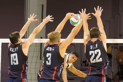 Volleyball, Men's, USA vs Puerto Rico, Canada vs Mexico 20150717