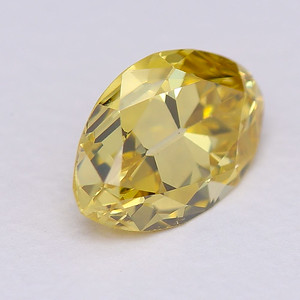 0.49 Antique Moval, Treated yellow color, VS1 GIA (Sr1382))