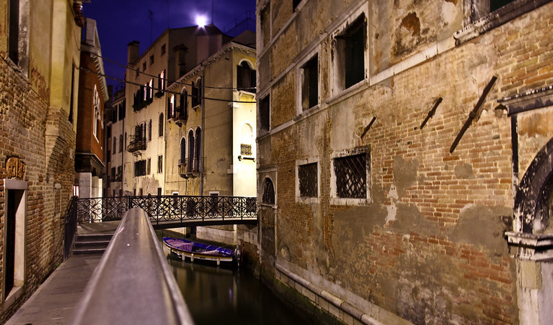 Venice Street at Night