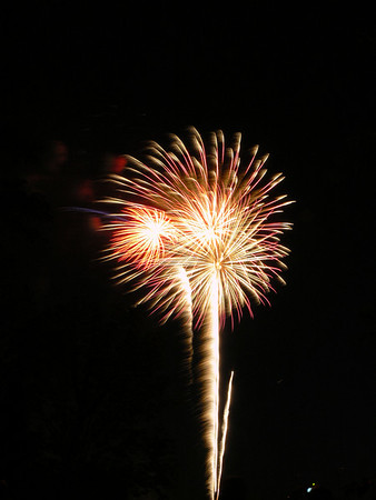 4th of July fireworks (on July 1)