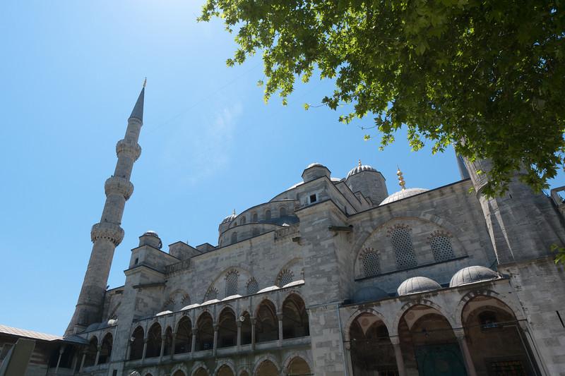The Hagia Sophia facade in Istanbul, Turkey