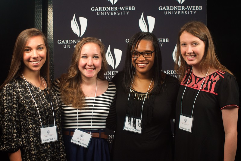 Gardner-Webb University's Life Of The Scholar (LOTS) participants present their thesis projects; Spring 2016. Jessica Shortt, Amber Townsend, Shaquavia Chiles, Leslea Everett: Elementary Education