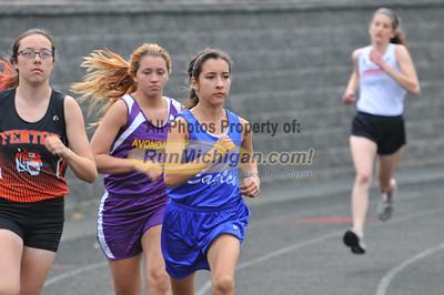 Girls 800M - 2013 MHSAA T&F D1 Regional at Brandon HS