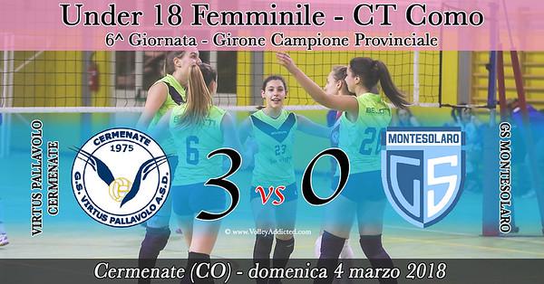 CO-U18f: Virtus Cermenate - Montesolaro