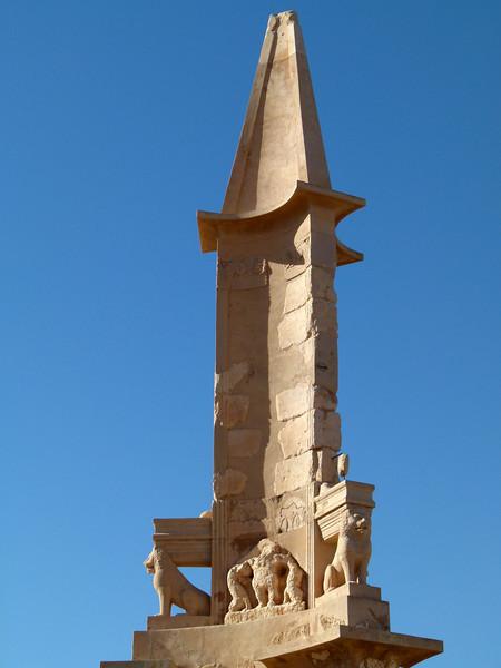 Mausoleum of Bes amongst the ruins at Sabratha