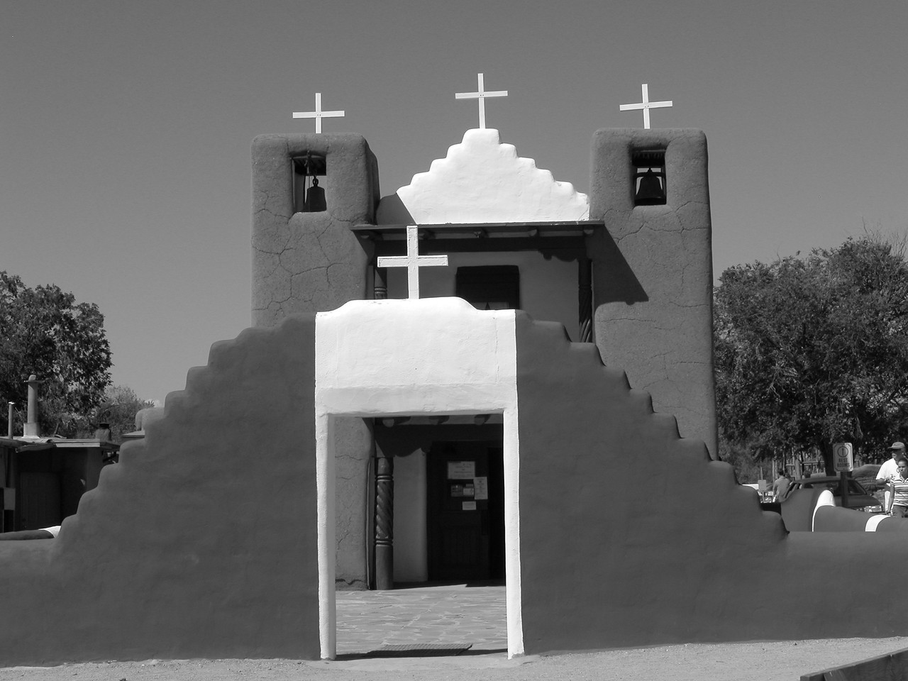 """The Taos Pueblo Church. This is similar to a shot taken by Ansel Adams- """"similar"""" in that we were in the place place once..."""