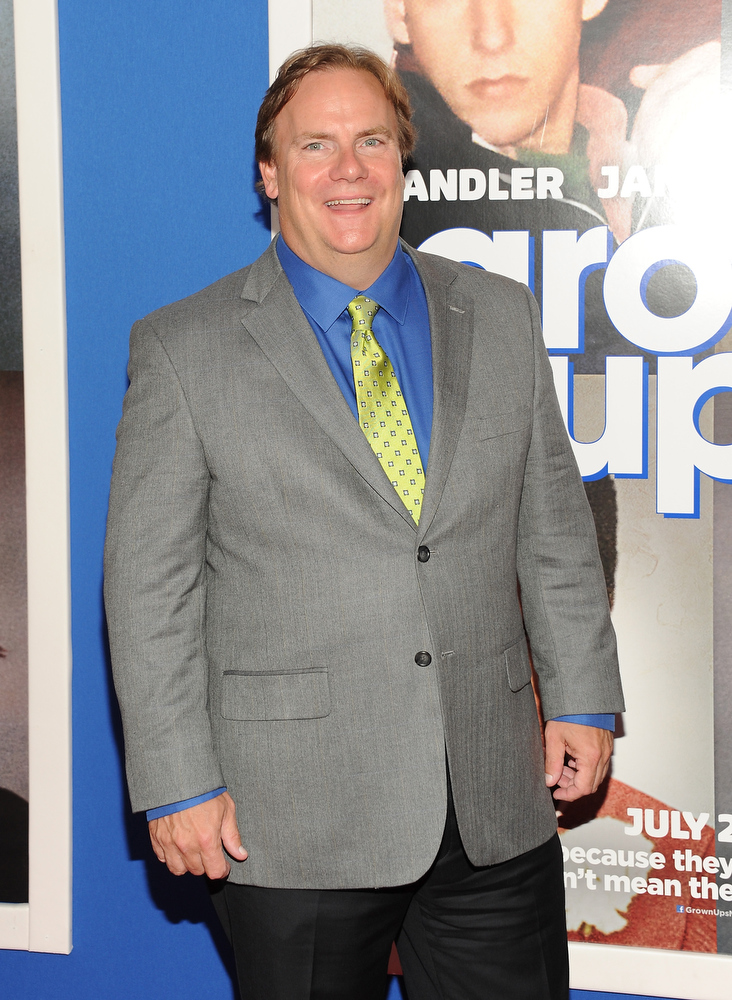 ". Actor Kevin Farley attends the premiere of ""Grown Ups 2\"" at the AMC Loews Lincoln Square on Wednesday, July 10, 2013 in New York. (Photo by Evan Agostini/Invision/AP)"