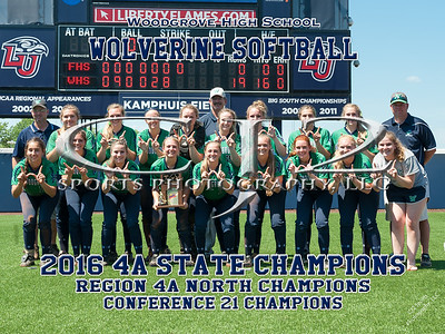 2016 Woodgrove Softball State Champions