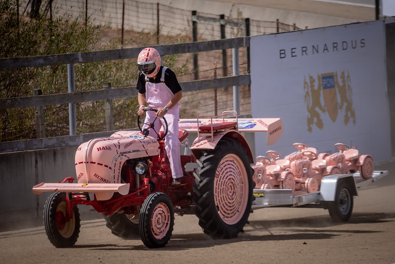 Justin Bell on a Porsche Tractor.