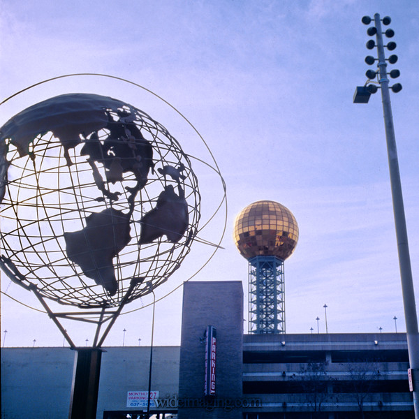 Unisphere and Sunsphere, Knoxville, Tn 1989