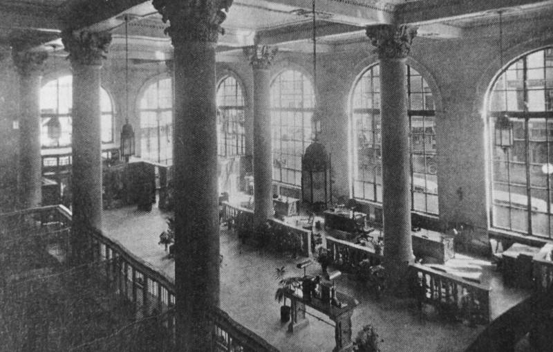 Lobby of Barnett Bank Building.