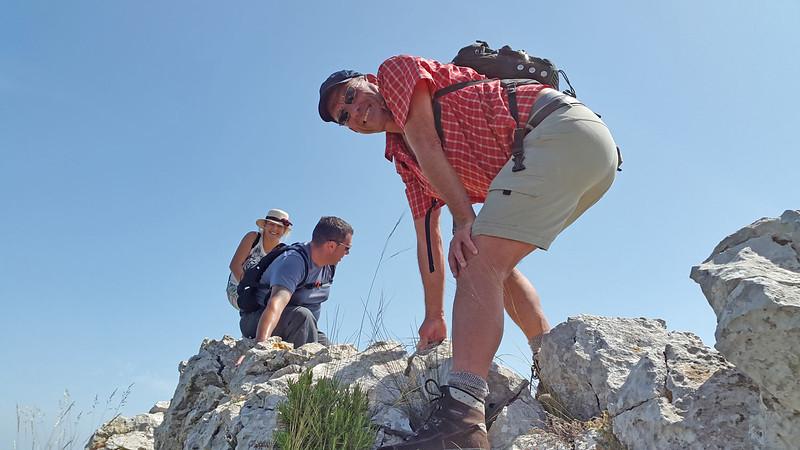 Alfred balancing on the Ferrer Ridge