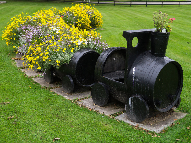 Train made out of Whisky barrels