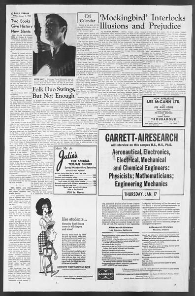 Daily Trojan, Vol. 54, No. 57, January 04, 1963