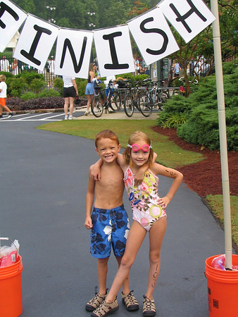 Twins' First Triathlon:  June 25, 2006