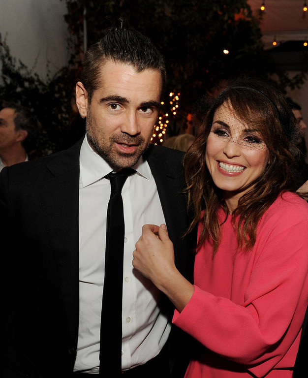 """. Actors Colin Farrell (L) and Noomi Rapace pose at the after party for the premiere of FilmDistrict\'s \""""Dead Man Down\"""" at the Lexington Social House on February 26, 2013 in Los Angeles, California.  (Photo by Kevin Winter/Getty Images)"""