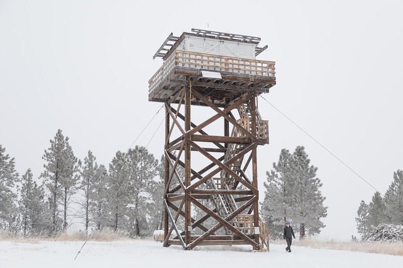 Poker Jim Fire lookout in Custer Gallatin NF