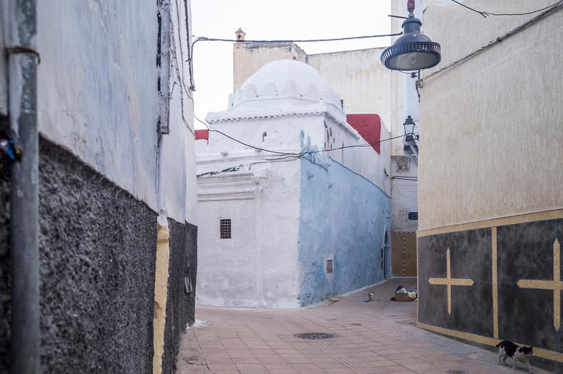 Street of the Medina (old town), Rabat, Morocco.