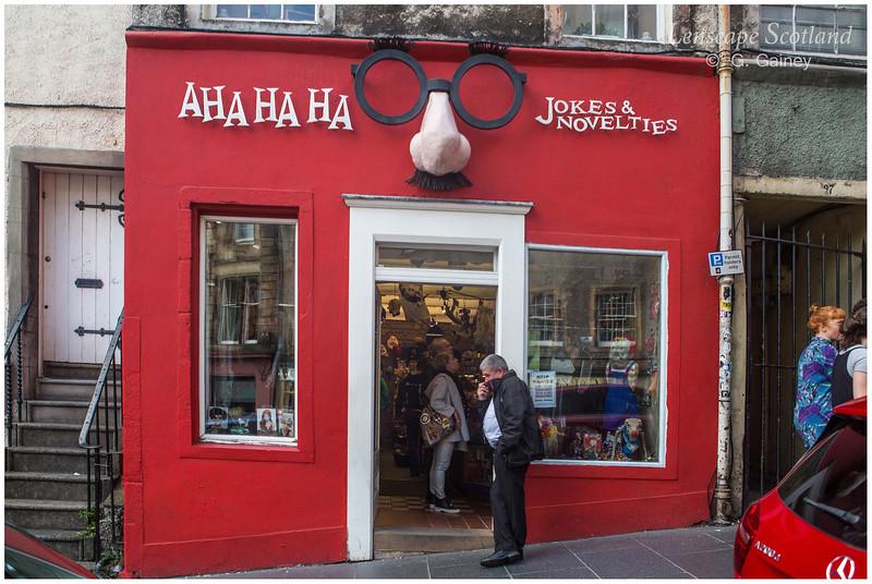 AhaHaHa Joke Shop, West Bow, Grassmarket