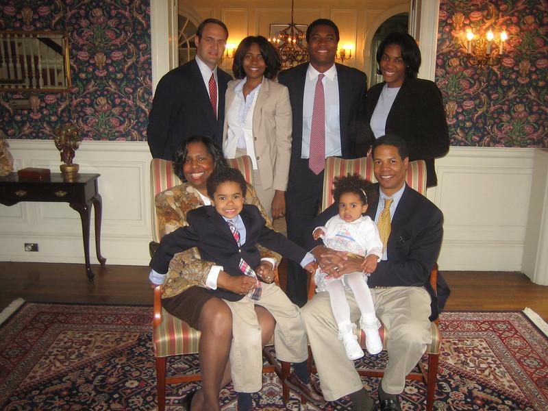 Joe and Stephanie Watkins and family