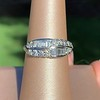 1.00ctw Vintage Double Row Baguette and Diamond Band 0