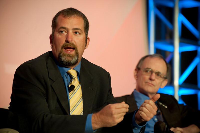 """Ocean Pollution, New Data"": Sen. Kevin Ranker (L), 40th Legislative District, Washington State Senate; and Jeffrey Short, Pacific Science Director, Oceana"