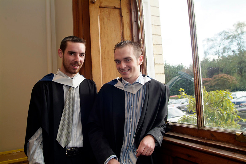 Conor Hogan, Clonmel and John O'Brien, Cahir both conferred with BSc in Architectural Technology at Waterford Institute of Technology.(pic-photozone)
