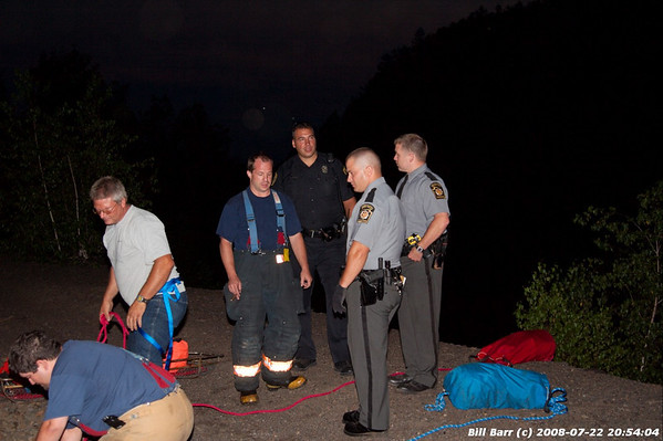Rope Rescue, Hazleton City, 7/22/08