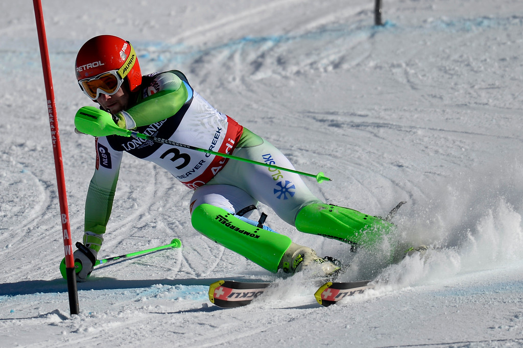 . BEAVER CREEK, CO - FEBRUARY 08: Martin Cater of Slovenia during the men\'s alpine combined final. FIS Alpine World Ski Championships 2015 on Sunday, February 8, 2015. (Photo by AAron Ontiveroz/The Denver Post)