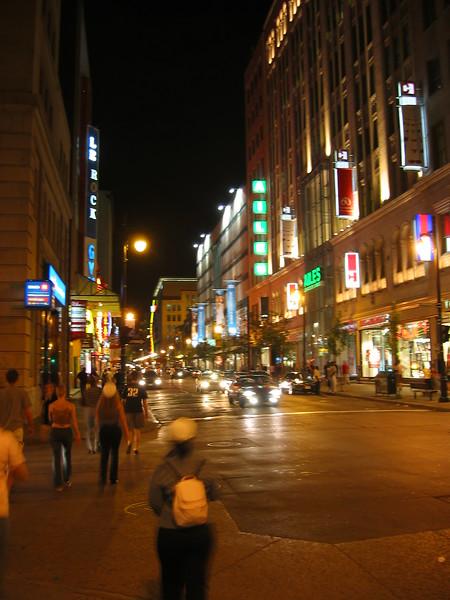Rue St. Catherine, near Montreal Jazz Festival