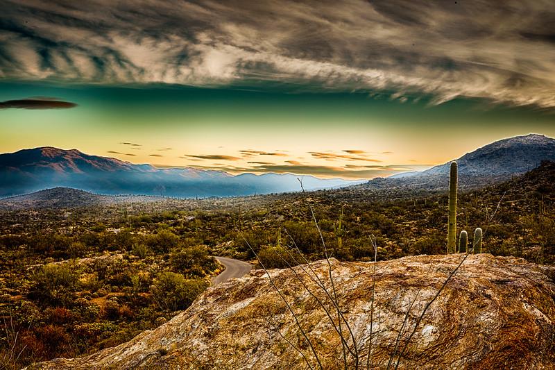Sunrise at Saguaro National Park