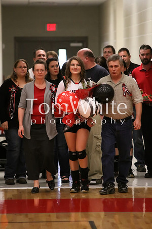 Mena vs Lakeside - LadyCat Volleyball Senior Night 2012