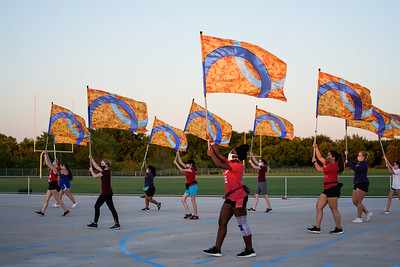 Color Guard Rehearsal, Sept 28, 2020