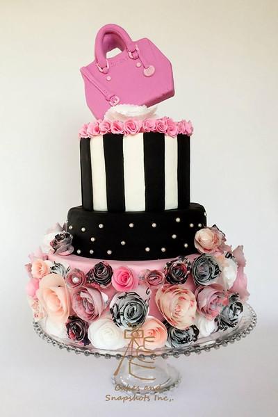 Fashionista 40th Cake