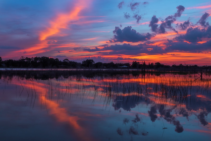Sunset over Lake Theresa, Deltona, Florida