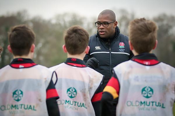Ugo Monye and David Flatman - Harrogate Rugby Visit