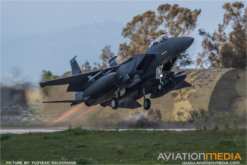 USAF 494 FS / Boeing F-15E Strike Eagle / 91-0308 LN