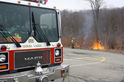 NJ Forest Fire Burns at Budd Lake Fire House