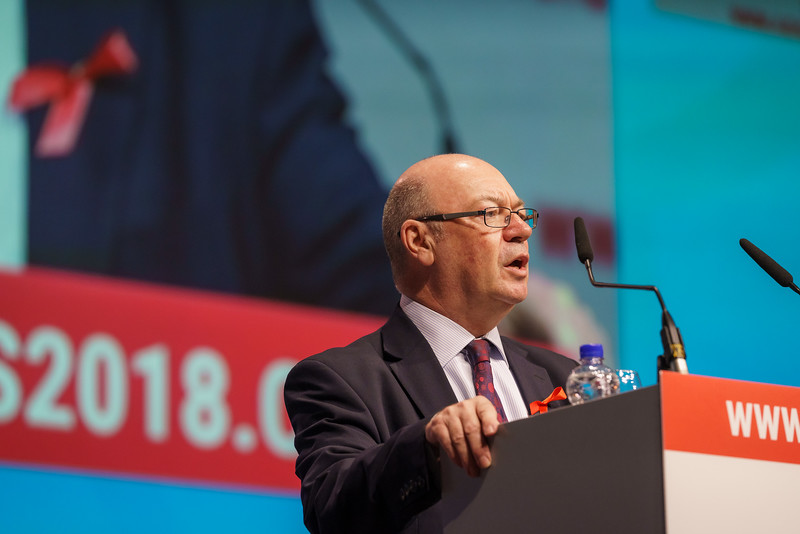 22nd International AIDS Conference (AIDS 2018) Amsterdam, Netherlands.   Copyright: Matthijs Immink/IAS  PLENARY Breaking barriers of inequity in the HIV response  Photo shows: Alister Burt
