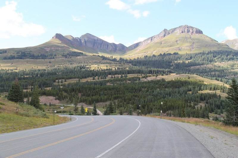 3/6 - Photo by Multistrada 1200 PP owner and ducati.ms forum member 'Duc PP' (aka Greg)  - nice road!.....Highway 550 , between Durango and Ouray
